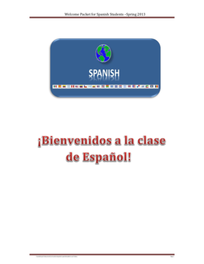 Welcome Packet for Spanish Students Spring 2013 - dept clcillinois