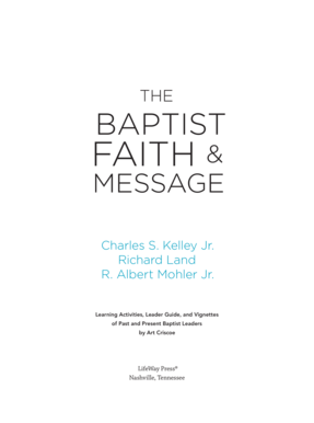 The Baptist Faith Message - Sample Pages Baptist Doctrine