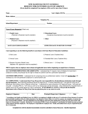 Application For Leave Of Absence Forms and Templates - Fillable ...