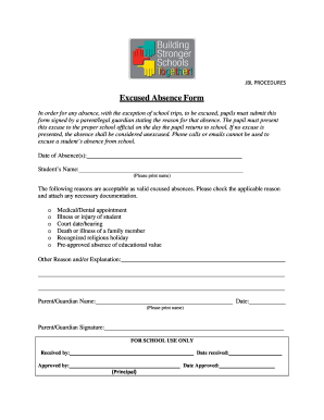 School Absent Form - Fill Online, Printable, Fillable, Blank ...