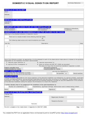 Electrical Inspection Report Template Fill Online Printable Fillable Blank Pdffiller Pdffiller