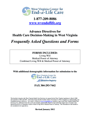 Bill Of Sale Form West Virginia Combined Medical Power Of Attorney ...