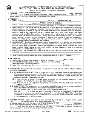texas real estate commission form 20 6