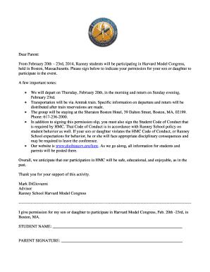 Fillable Online HMC Permission Letter Fax Email Print