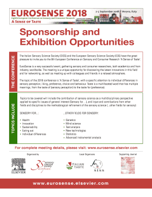 Sponsorship and Exhibition Opportunities - Eighth European