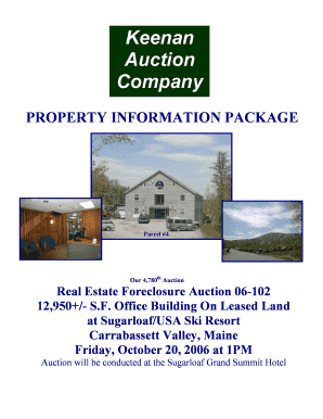 Keenan Auction Company PROPERTY INFORMATION PACKAGE