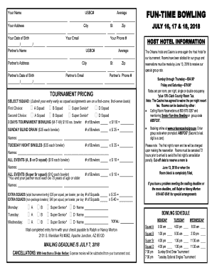 Entry Form - FuntimeBowling