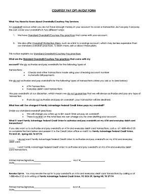 courtesy pay opt-in/out form - Family Advantage Federal Credit Union