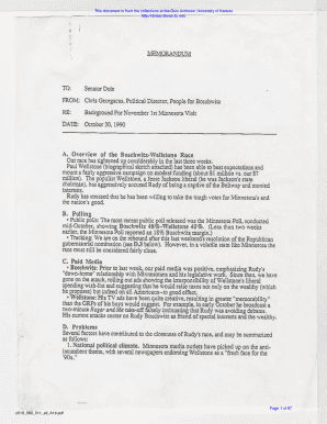 memorandum - Robert J. Dole Archive and Special Collections