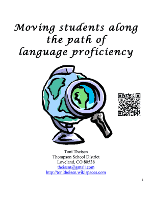 Moving students along the path of language proficiency - Toni Theisen