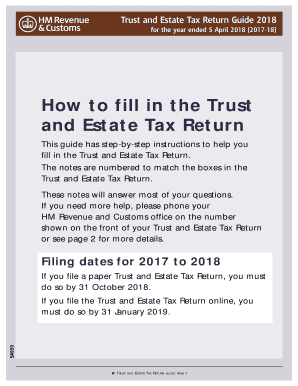 Trust tax return guide 2019 edition (proview only).