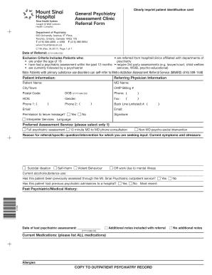 2017 2020 Form Mount Sinai Hospital C 195 Fill Online Printable Fillable Blank Pdffiller