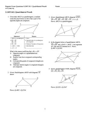Fillable Online G Srt B 5 Quadrilateral Proofs Jmap Home Fax