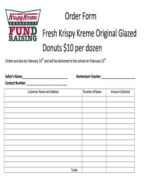 krispy kreme order form  Fillable Online Krispy Kreme Order Form - georgewhiteffa.com ...