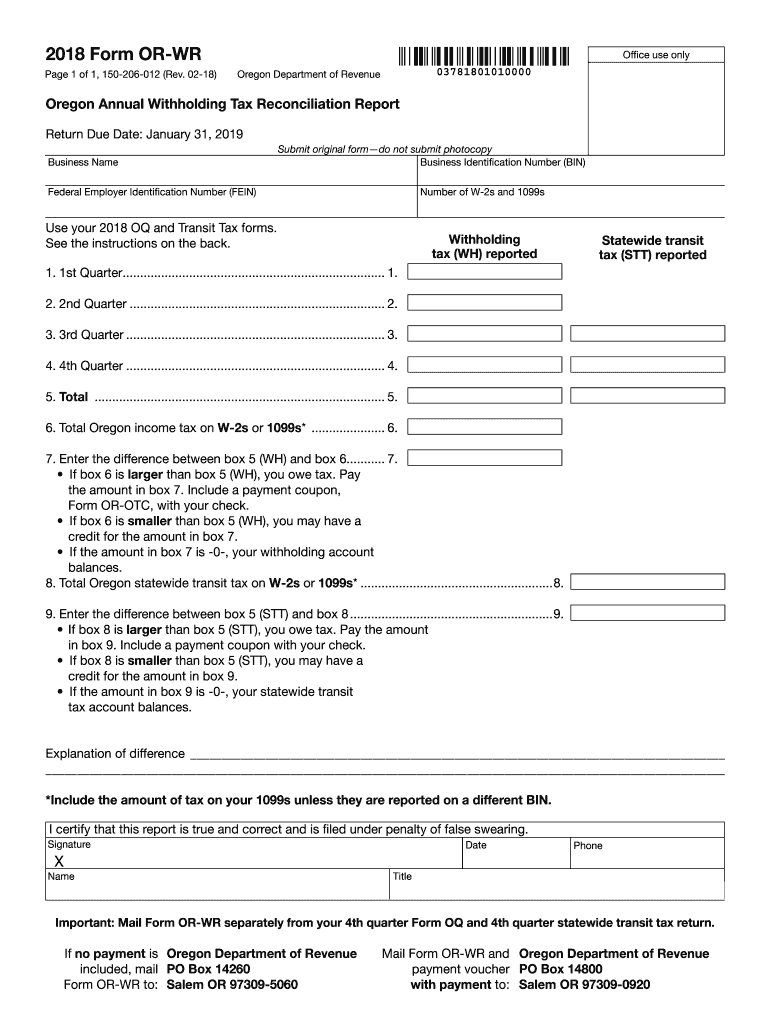 2018 2021 Form Or Or Wr Fill Online Printable Fillable Blank Pdffiller