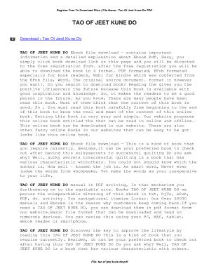 Tao Of Jeet Kune Do Ebook