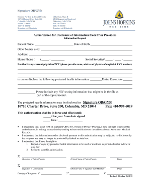 Fillable Online Medical Pavilion At Howard County Fax Email Print