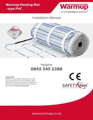 Installation Manual Warmup Heating Mat