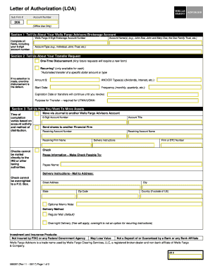 Fillable Online Letter of Authorization to Transfer Funds or