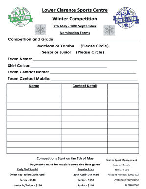 Fillable Online Team Nomination Form - The Raymond Laurie