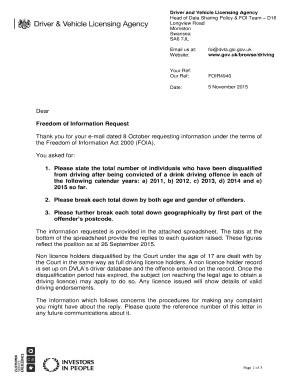 Fillable Online DVLA letter to Fax Email Print - PDFfiller