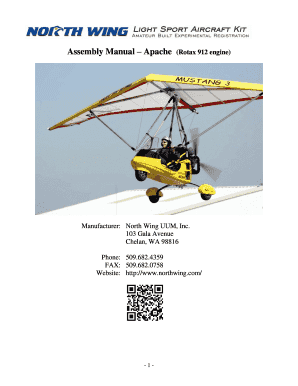 Fillable Online Assembly Manual Apache (Rotax 912 engine