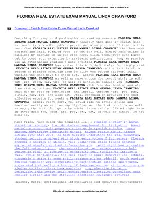 Fillable Online Florida Real Estate Exam Manual Linda