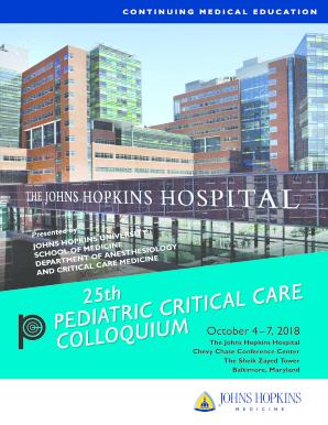 Fillable Online Pediatric Critical Care Colloquium 2018