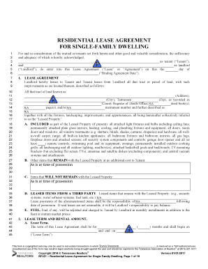 Fillable Online Residential Lease Agreement For Single