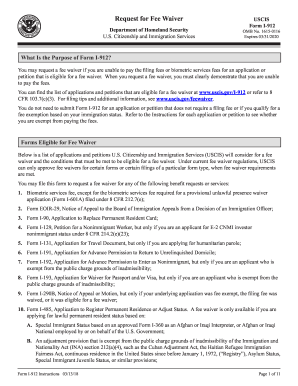 i912 instructions 2018 Form USCIS I-912 Instructions Fill Online, Printable, Fillable ...