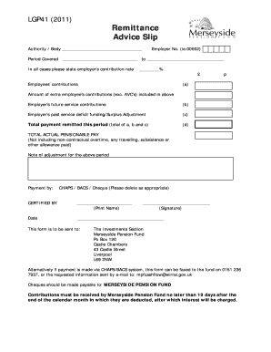 Fillable Online Remittance Advice Slip Fax Email Print Pdffiller