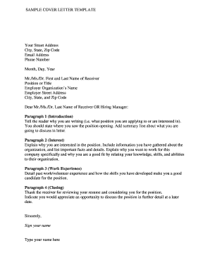 Government Cover Letter Template from www.pdffiller.com