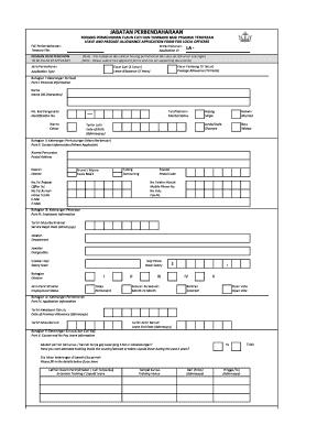 Fillable Online Borang Elaun Cuti Tambang Perjalanan Kupu Sb Fax