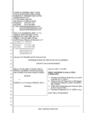 Fillable Online Read a copy of the First Amended Complaint - Google