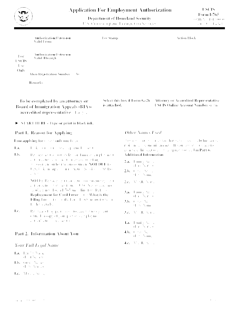 sample i 765 form for opt extension