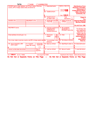 2018 Form Irs 1099 R Fill Online Printable Fillable Blank Pdffiller
