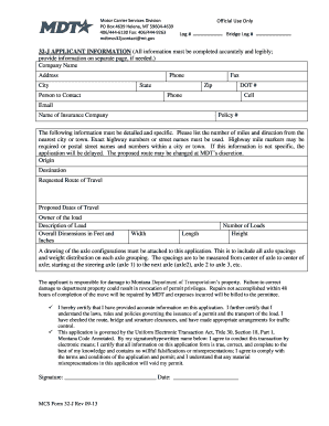 Fillable Online 32J Permit - Montana Department of