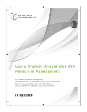 Fillable online exam answer strayer bus 599 peregrine assessment rate this form fandeluxe Gallery