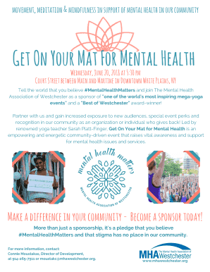 Fillable Online 2018 yoga premium sponsors - Mental Health