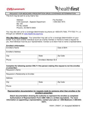 Fillable Online CVS Caremark - Appeals Department Fax Email