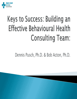 Fillable Online Behavioural Health Consulting Fax Email Print Pdffiller