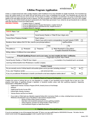 Windstream Lifeline Fill Online Printable Fillable Blank