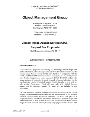 Fillable Online Object Management Group - Healthcare DTF Fax