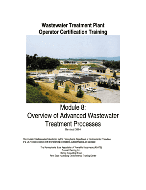 Fillable Online Overview of Advanced Wastewater Fax Email