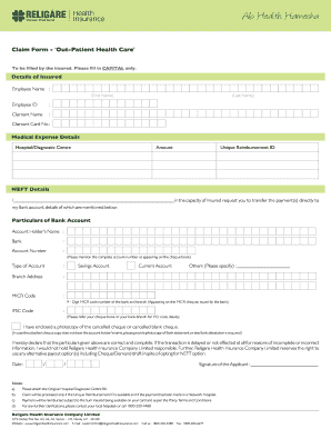 Religare Health Insurance Claim Form - Fill Online ...