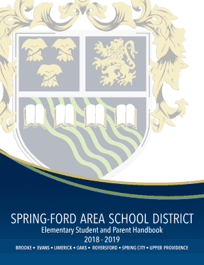 Fillable Online Spring Ford Area High School Spring Ford