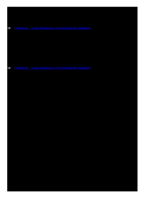 Fillable Online Texas Temporary Drivers License Template Fax Email