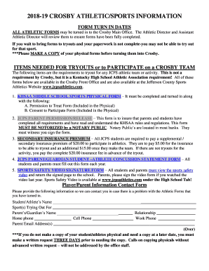 sports physical form jcps  Fillable Online Parent Athletic Forms - JCPS - Kyschools.us ...