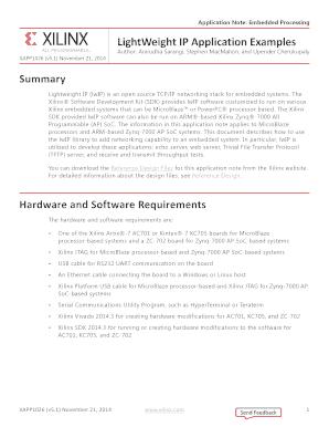 Fillable Online Xilinx XAPP1026 LightWeight IP (lwIP