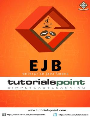 Fillable Online Preview Ejb Tutorial Pdf Version Tutorialspoint